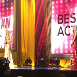 Carter Cruise getting the award for Best Actress at AVN