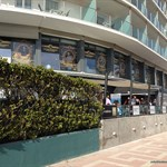 Outside view of the Calipolis Hotel and patio